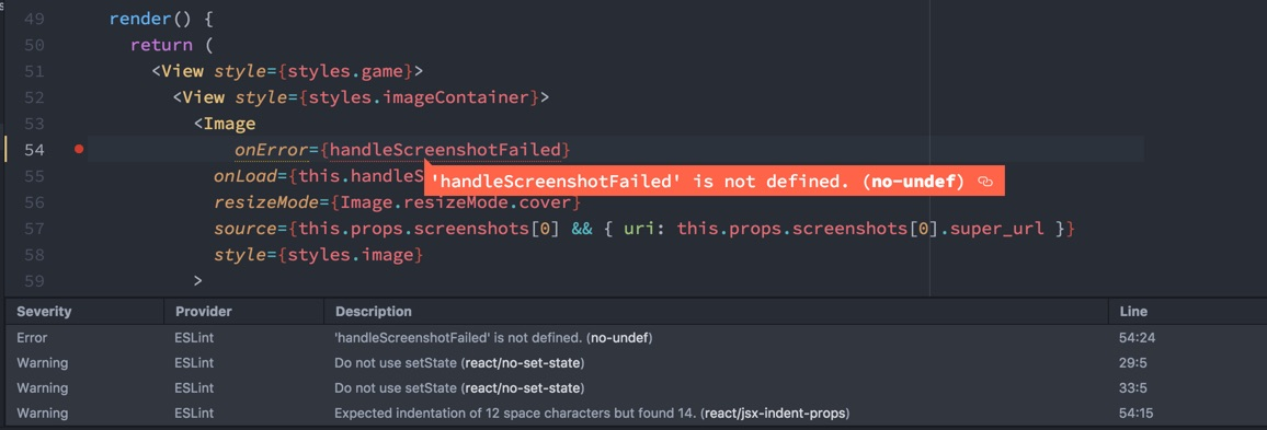 linting in Atom
